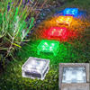 Waterproof Outdoor Solar Floor Lamp Square LED Underground Light Novelty Ice Brick Solar Recessed Ground Lamp