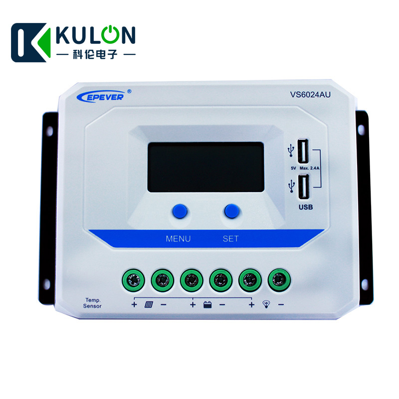 EPEVER VS6024AU 60A Solar Charge Controller PWM 12V 24V DC Auto with Informative Black Light LCD