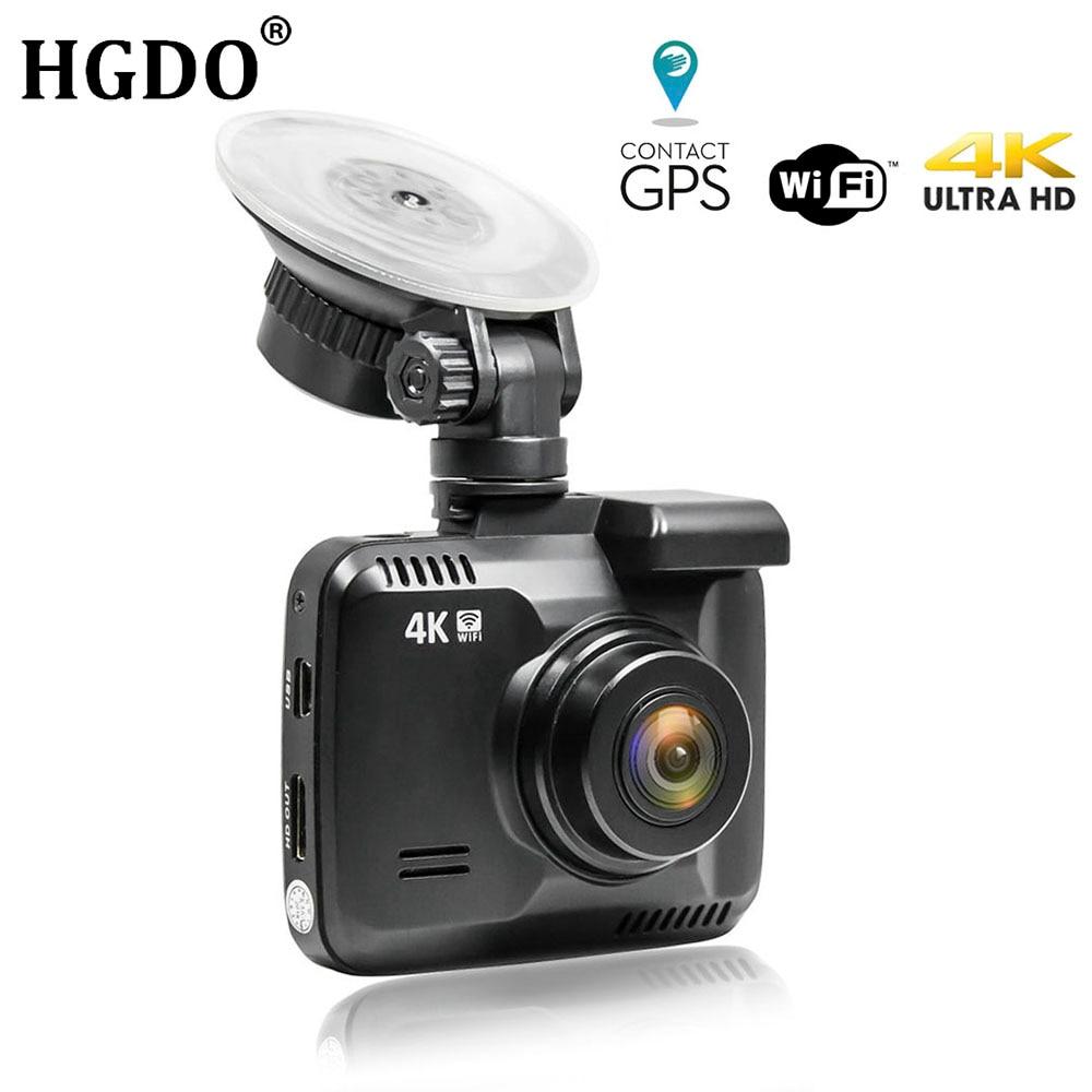 HGDO WiFi Car DVRs Recorder Dashcam Novatek 96660 Vehicle Camera Built in GPS Camcorder 4K 2160P Night Vision Video Recorder DVR