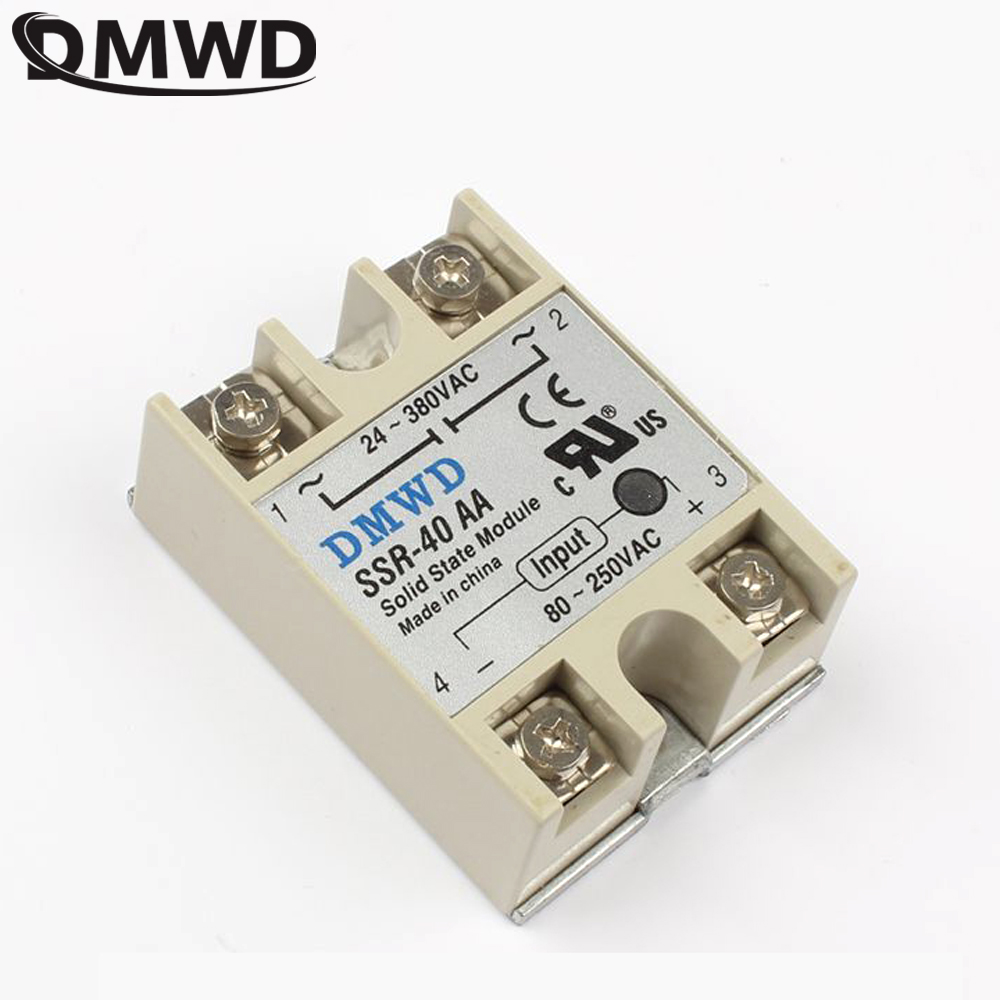 Solid State Relay Module Ssr 40aa 40 Aa 40a 80 250vac Input Spdt 5v Top Brand Dmwd Actually 250v Ac To