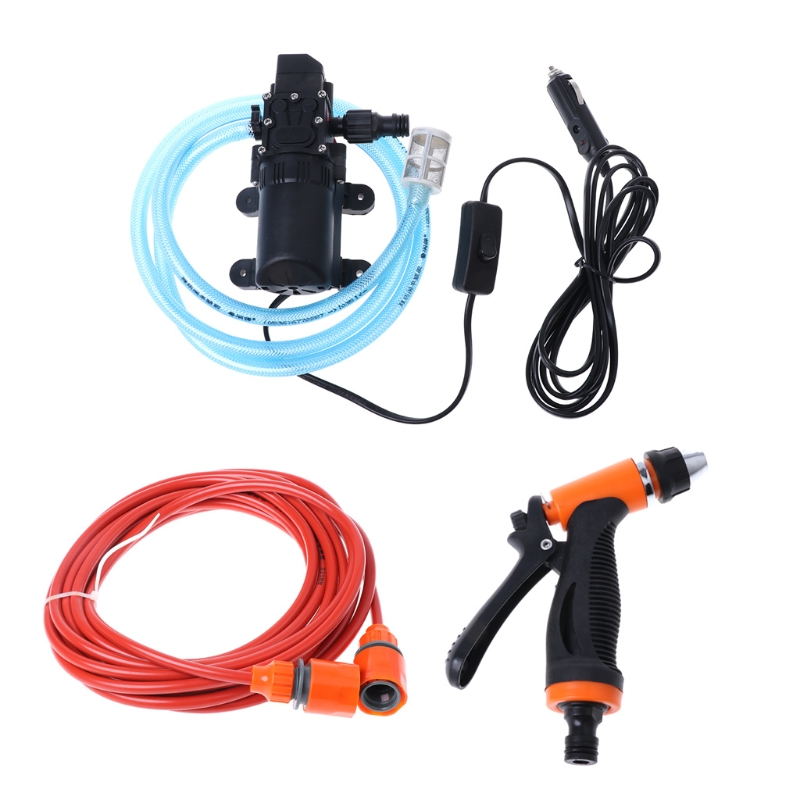 Free delivery 12V portable 100W 160PSI self-priming electric car wash high pressure cleaner with water pump new products(China)