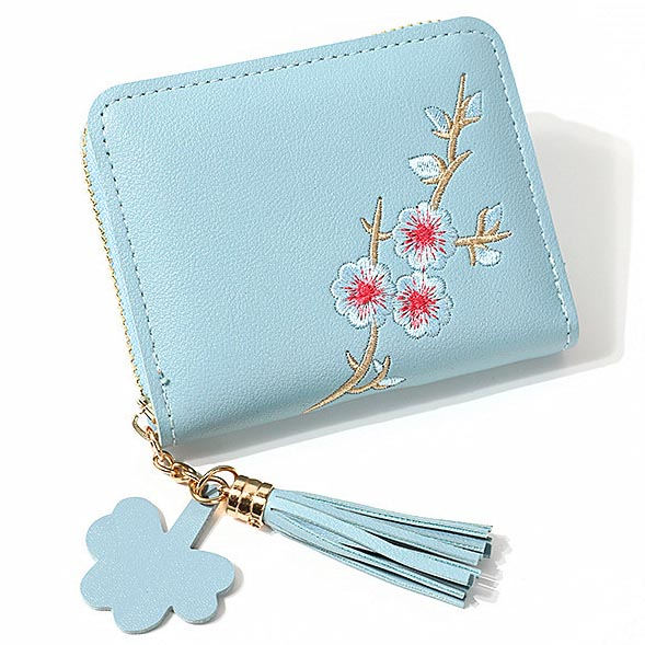 Fashion Small Female Purses Short Coin Purse Pocket Embroidery Tassels Women Wallet Bag Cards ID Holder Good Quality Moneybags