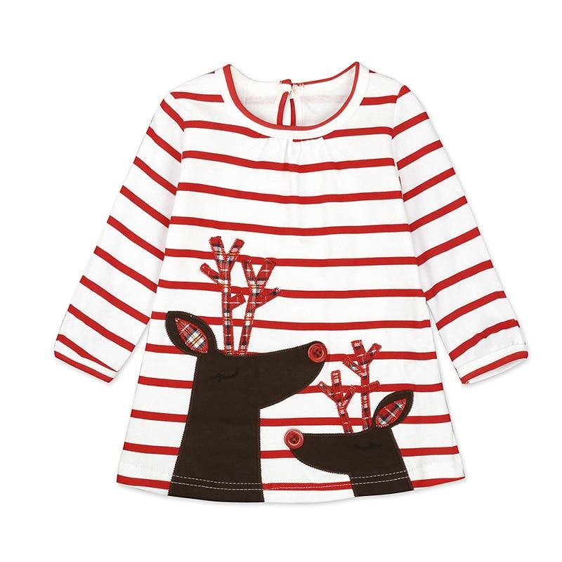 Girls Cartoon Embroidery Santa Claus Cartoon Princess Dress For Girl Party Dress Girl Dress Baby Girl's Christmas Clothes