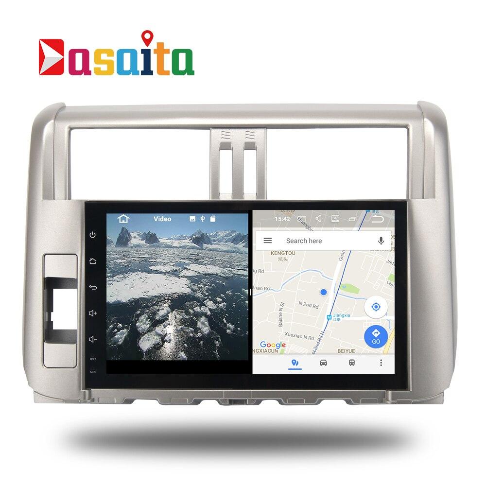Voiture Android 7.1 GPS Navi pour Toyota Prado 150 2010-20013 autoradio navigation tête unité multimédia 2 Gb + 16 Gb RDS HDMI sortie