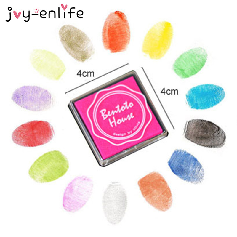 20pcs Finger Painting Color Inkpad Rubber Kid Scrapbooking Stamp Candy Color DIY funny work Fingerprint Scrapbooking Accessories the new diy 6 6cm rubber stamp inkpad inkpad octagonal color ink finger painting 22 colors