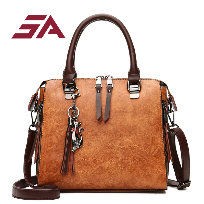 SA Women Handbag Famous Brand PU Leather Lady Handbags Luxury Shoulder Bag Large Capacity Crossbody Bags Women Casual Tote Sac jooz brand luxury belts solid pu leather women handbag 3 pcs composite bags set female shoulder crossbody bag lady purse clutch