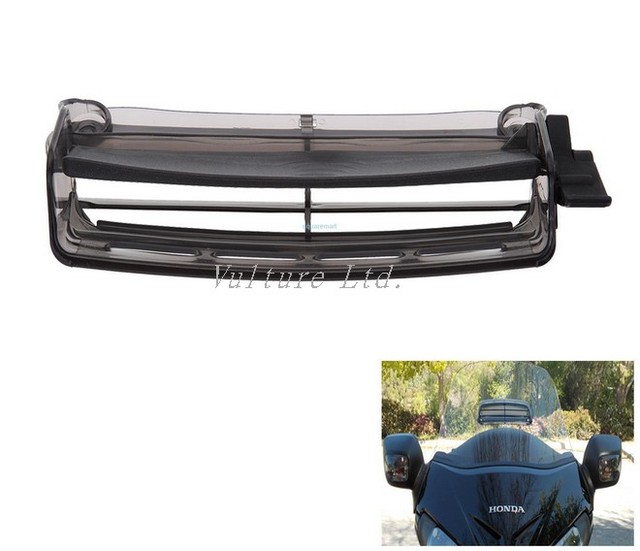 New Style Smoked Windshield Windscreen Air Vent For Honda Goldwing GL1800 01-16