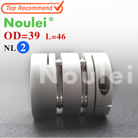 Noulei 12mm X 12mm D39 L46 CNC Stepper Motor Shaft Coupler Flexible Coupling 12x12mm Motor Connector