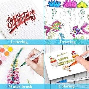 Image 5 - Touchfive 60/72/100/120 色デュアルブラシ先端マーカー水彩ペン画材を描画するための洗えるペン絵画skechペン