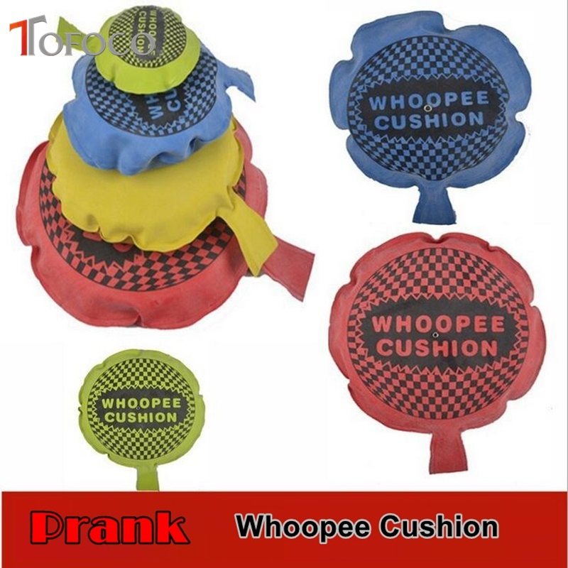 TOFOCO 1PC Random Color Funny Whoopee Cushion Hallowmas Goods Trick Fun Fart Pad Pillow April Fools Toys Gifts Jokes Gags Prank