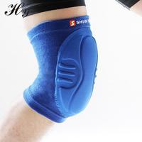 Nueva engrosamiento rodillera fútbol Vóleibol extreme sports rodilleras codo brace protección skate rodilleras tacticas