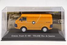 IXO Altaya 1:43 Scale Gurgel Itaipu E400 Telerj Rio De Janeiro Toys Car Diecast Models Limited Edition Collection Yellow auto inn ixo 1 43 gurgel carajas corpo de bombeiros diecast model car