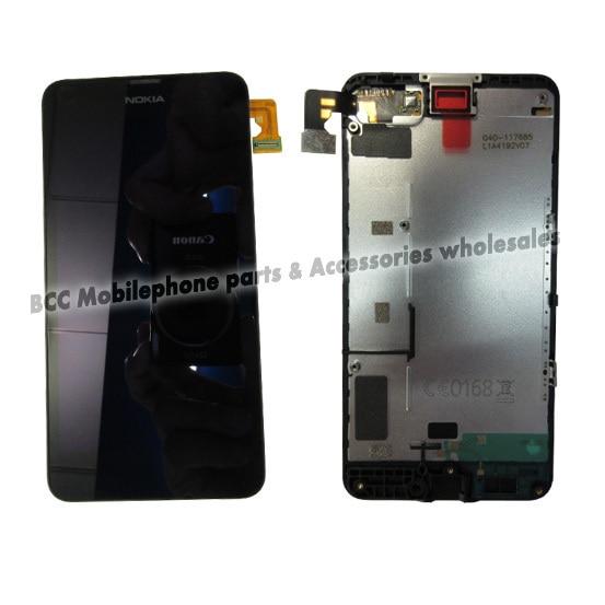 Para nokia lumia 630 635 636 638 display lcd + de toque de vidro digitador da tela + quadro assembléia conjunto completo touchscreen teste original de 100%
