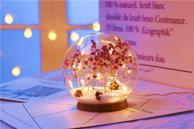 Creative LED Crystal Ball Design Table Lamp Room Decor Bedside Night Light For Girls Baby New Year Christmas Birthday Gift (17)