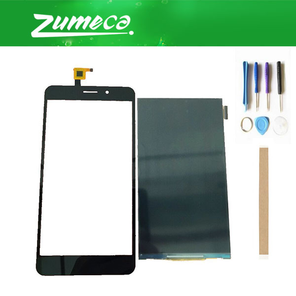 High Quality For THL T9 T9 Pro LCD Display Screen+ Touch Screen Digitizer Touch Panel Lens Glass Black Color With Tape&Tool