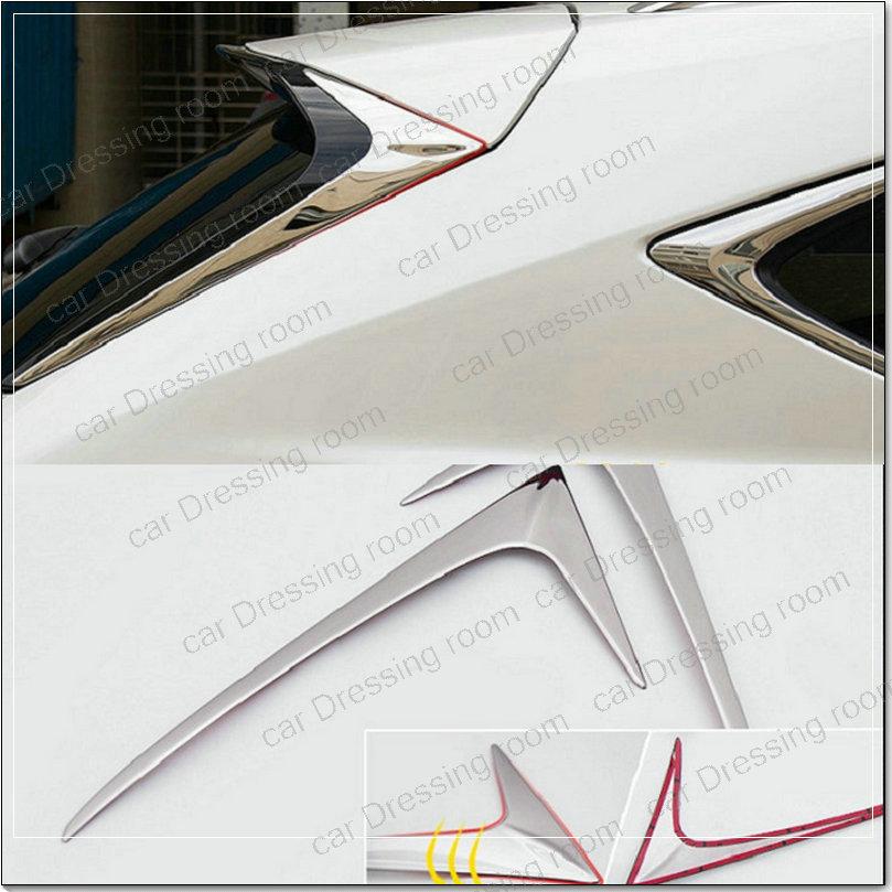 Στυλ αυτοκινήτου Ανοξείδωτο χάλυβα επισημαίνει το τρίγωνο μετά τη διακόσμηση για LEXUS NX200 200T 300H 2 τεμάχια / παρτίδα