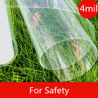 4mil/0.1mm Car Building Security Window Tint Film Transparent Protective Film for Glass Window Anti Shatter 152x500cm/60x16ft