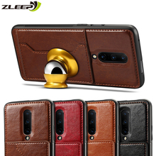 Wallet For Oneplus7 Car Magnetic Case Luxury Leather Card Holder Stand For Oneplus 5T 6 6T 7 Pro Phone Cover Coque Carcasa Etui