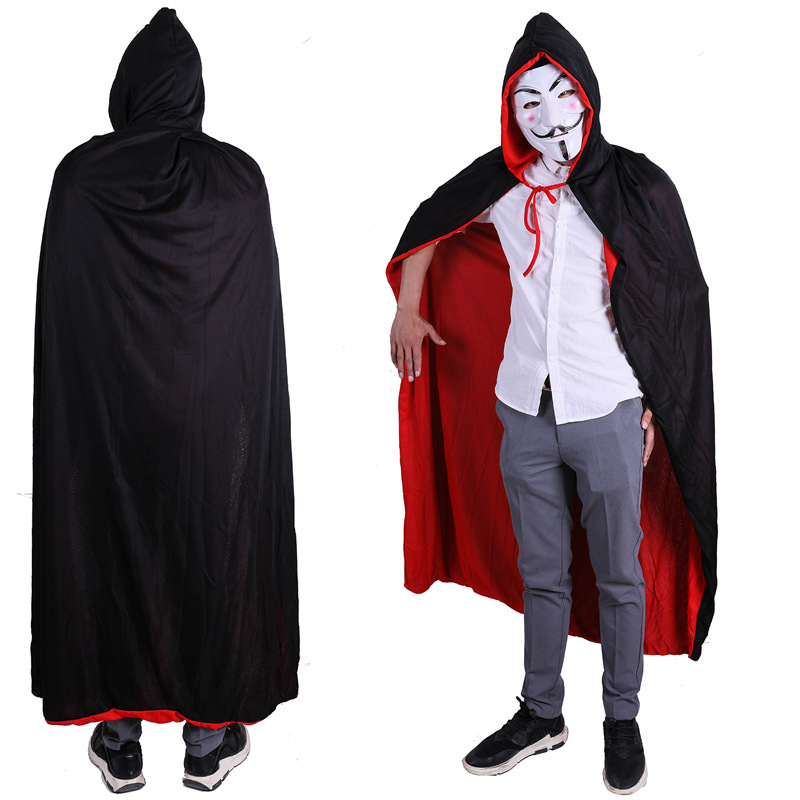 Fashion Capes Cloak Long Velvet For Christmas Halloween Cosplay Costumes