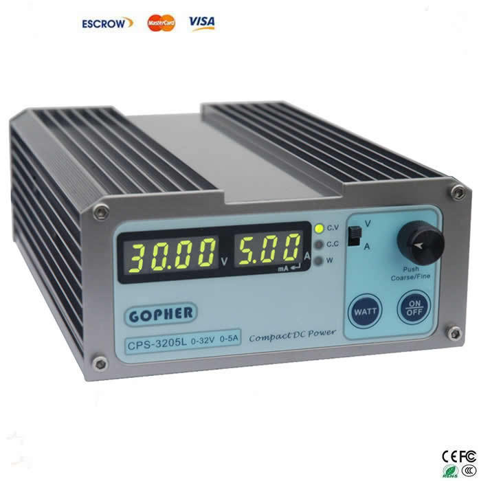 CPS-3205L 32V 5A compact adjustable DC Power Supply For Laptop Repairing cps3232 1000w 0 32v 0 32a high power digital adjustable laboratory dc power supply 220v cps 3232