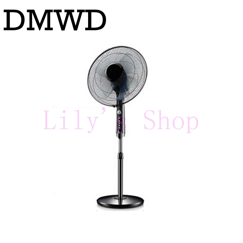 DMWD household electric fan floor standing cooling fans mute head shaking dormitory timed ventilation cooler home office EU US lpsecurity sliding gate opener motor