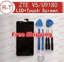 Para zte v5 pantalla lcd de alta calidad pantalla lcd + pantalla táctil reemplazo Para ZTE Red Bull V5 U9180 V9180 N9180 5.0 pulgadas teléfono móvil