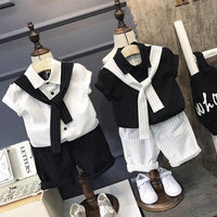 Baby Boy Clothes Casual Shirts Tie Shorts 2pc Baby Clothing Set Summer Child Kids Costume For
