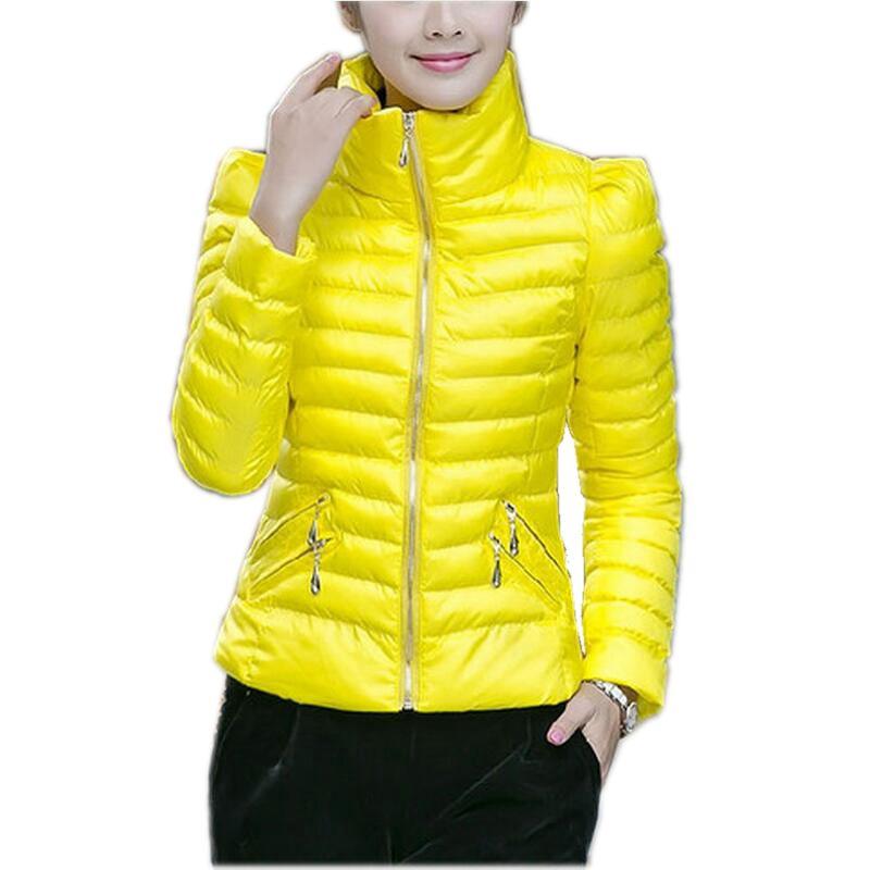 2016 Son Moda Kış Kadınlar Aşağı ceket Kalın Süper sıcak kısa Ceket Zarif Saf renk Gevşek Büyük boy Kadın Ceket SJ294