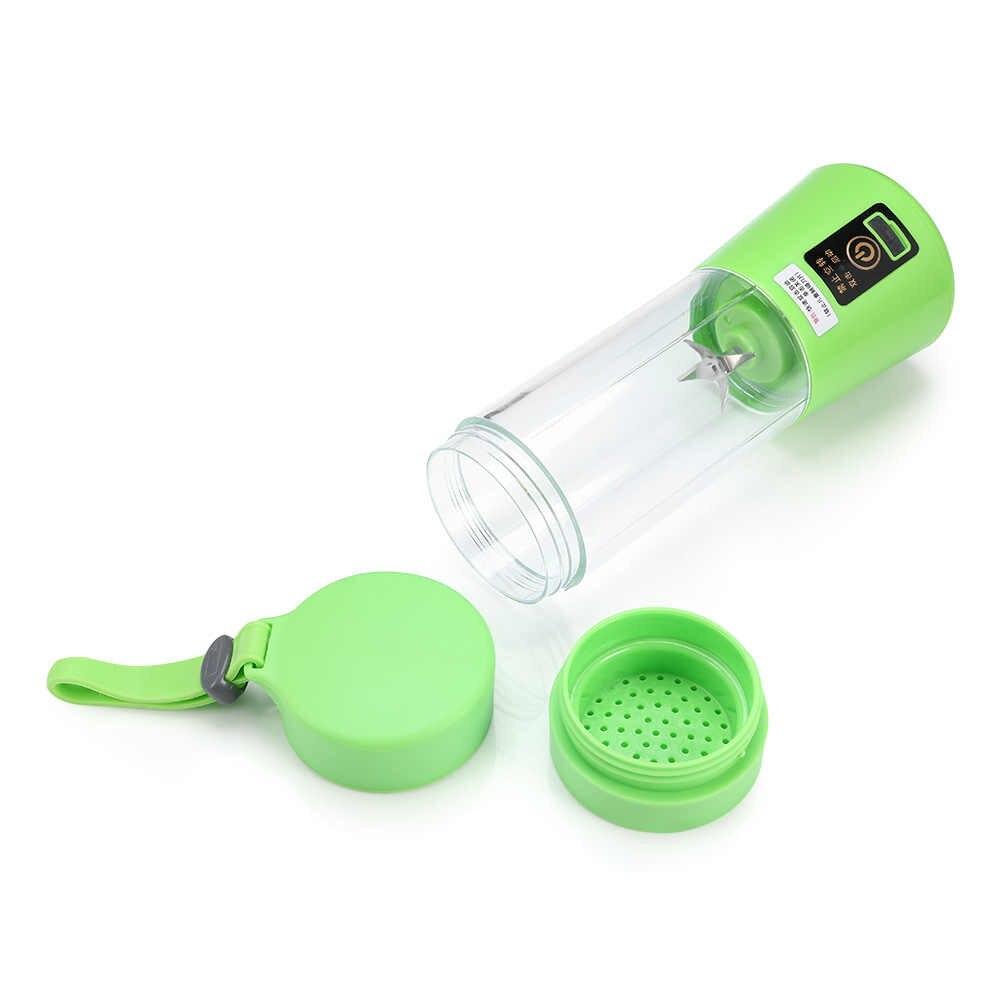 380ml Juicer Cup 4000mAh Puissant Handheld Fruit Mixer Machine Travel Shaker Bottle M/élangeur portable Personal Blender Fruit Juicer Shaker 6 Blades USB Electric Juicer Smoothie Maker Blender