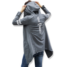 Hoodies and Sweatshirts Men Fashion 2017 Long section Male Gray-black Casual Cotton Hoody Sudadera Hombre Asian Size 5XL