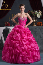 2015 Quinceanera Dresses With Sweetheart Beads Ruffles Ball Gown Long Organza For 15 Years Vestidos De Anos Debutante W50