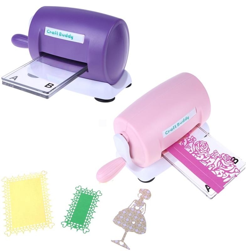 Bricolage meurt gaufrage Machine Scrapbooking Cutter meurt Machine papier carte faisant artisanat outil découpé vert blanc