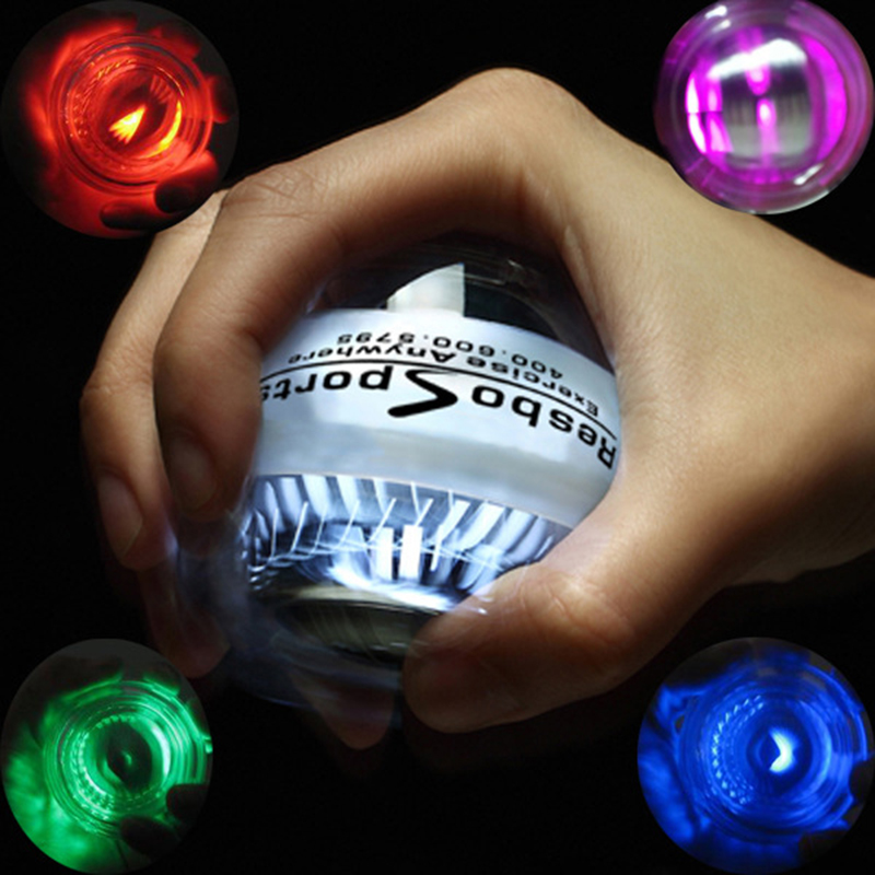 Platinum Dual LED Power Wrist strengthen Ball Gyroscopic Super Fitness Hand Spinner Wrist Gyro Exerciser Force Wrist Ball C