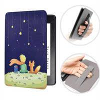 Funda para todo-Nuevo Kindle 10th Gen 2019 liberación protector más fino cubierta inteligente impresión PU cuero correa de mano para Kindle 2019