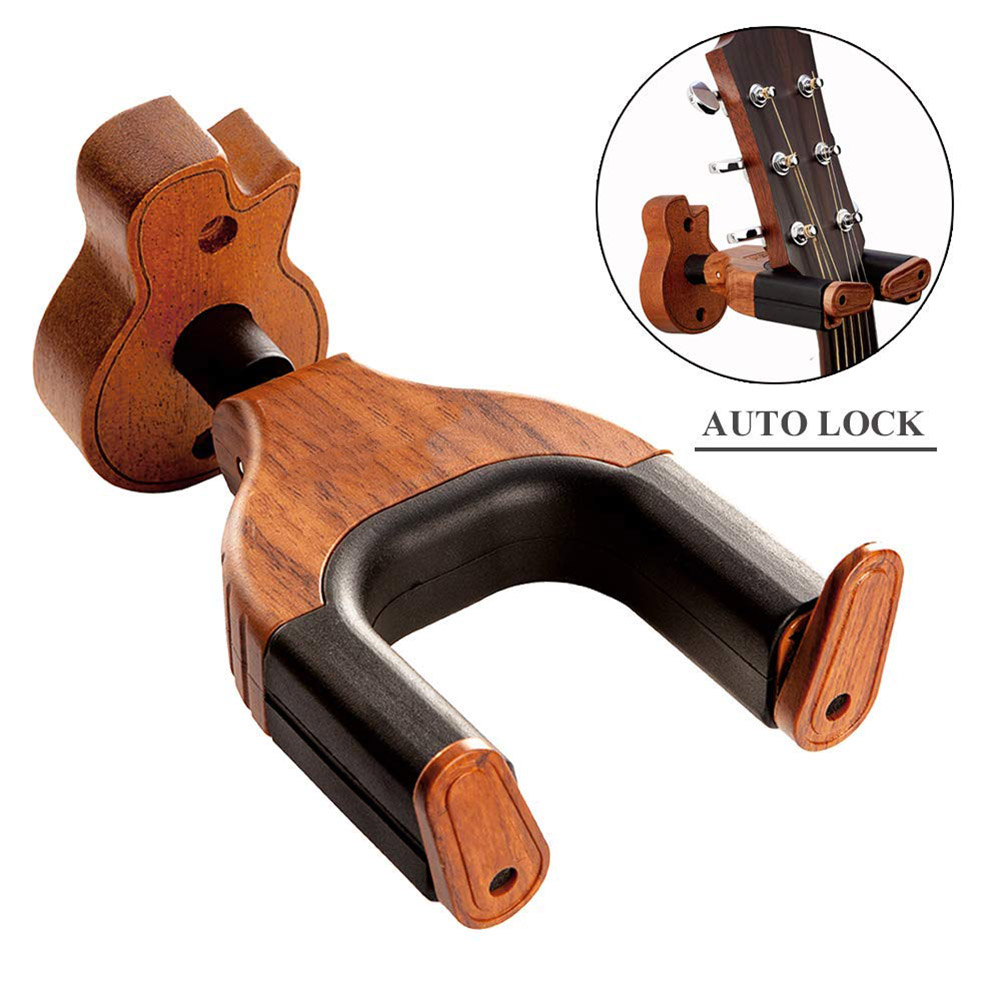 Newly Wooden Wall Mount Guitar Hanger Holder Hook Keeper Hanging Bracket BFE88