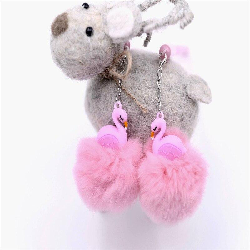 1 шт. 0,5 мм Фламинго плюшевые кулон гелевая ручка Фламинго чернилами Baby Shower День рождения Фламинго Декор дети День рождения подарки. Q