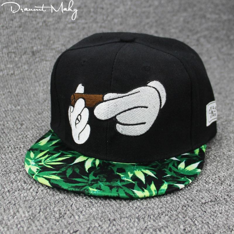 New Smoke Baseball Cap Dad Hat For Men Women Embroidery Hand Smoke Pattern Trucker Cap Weed Bone Golf Hat cool style Hip Hop cap Бейсболка