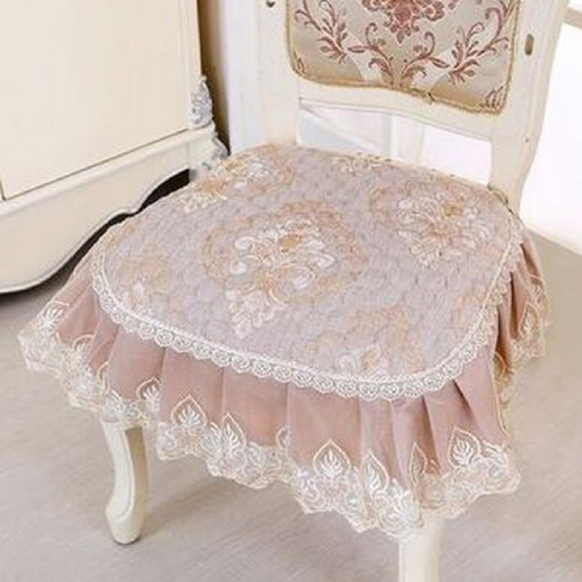 Pastoral Chair Pads Fancy Floral Seat Cushion For Dining Room Chairs Cushions Home Decor Almofada