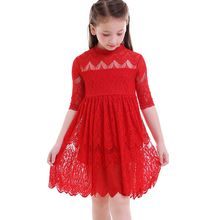 2018 Baby Kid Flower Girl Dress Lace Princess Birthday Party Wedding Bridesmaid casual kid for 18M-6Y