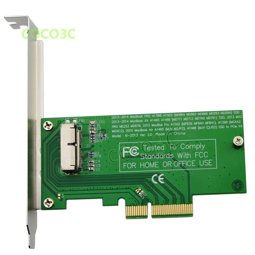 para 2020 Ssd para Adaptador 4x de Pci – e Ssd Macbook Pro Retina A1502 A1398 Pci Express Air A1465 A1466 Me866