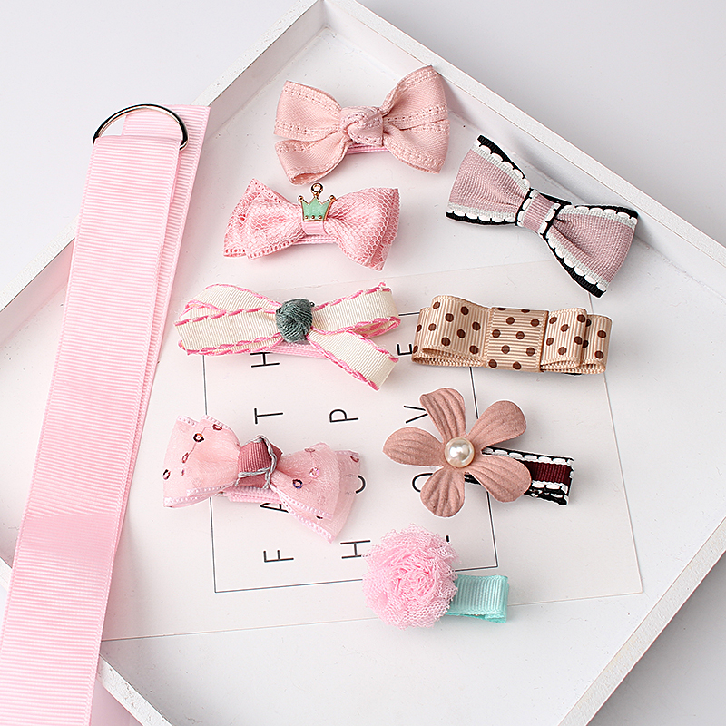 M MISM 1Set = 8pcs Grils Lovely Bow Flower Hair Accessories Set - Accesorios para la ropa - foto 1