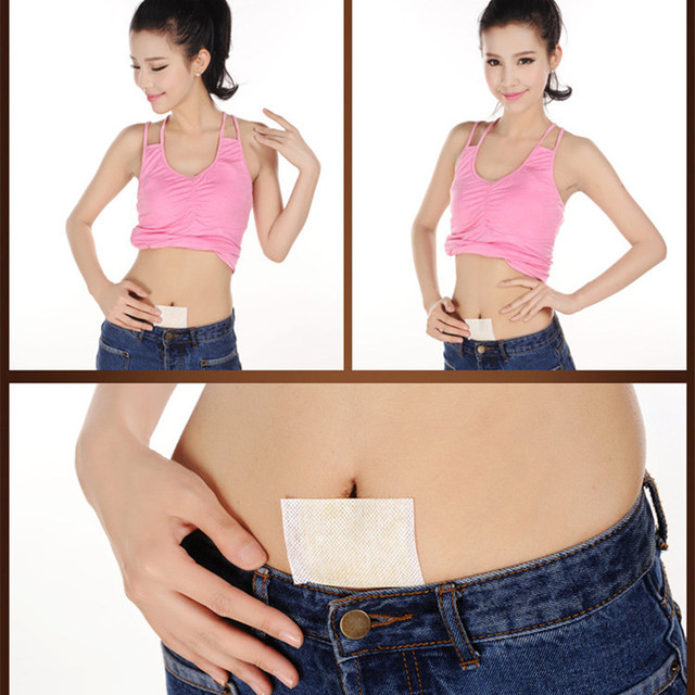 30/60/90pcs lose weight Hot sale Pure natural herb Health Patch Weight loss Slimming Navel Sticker health fat burning patches