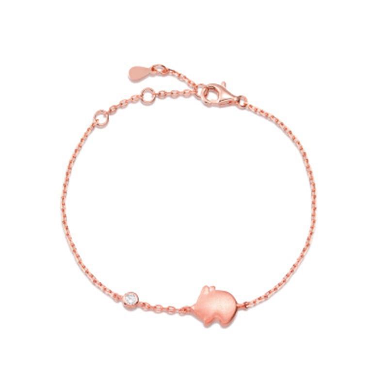 Qevila Anklet Hot Fashion Lovely Flying Pig Ankle bracelets 925 Sterling Silver Gold Leg foot Jewelry for Women Unique Gift Boho (11)