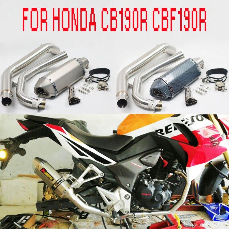 CB190 échappement complet Moto silencieux moyen tuyau mobile DB tueur Moto évasion Moto pour HONDA CB190R CBF190R CBF190 AK170