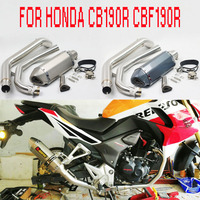 CB190 Full Exhaust Motorcycle Muffler Middle Pipe Moveable DB Killer Motocross Escape Moto FOR HONDA CB190R CBF190R CBF190 AK170
