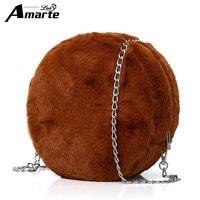 Amarte 2017 جديد نساء حقائب فاخرة تصميم شكل دائري المرأة المرأة حقيبة crossbody multifunction packbag