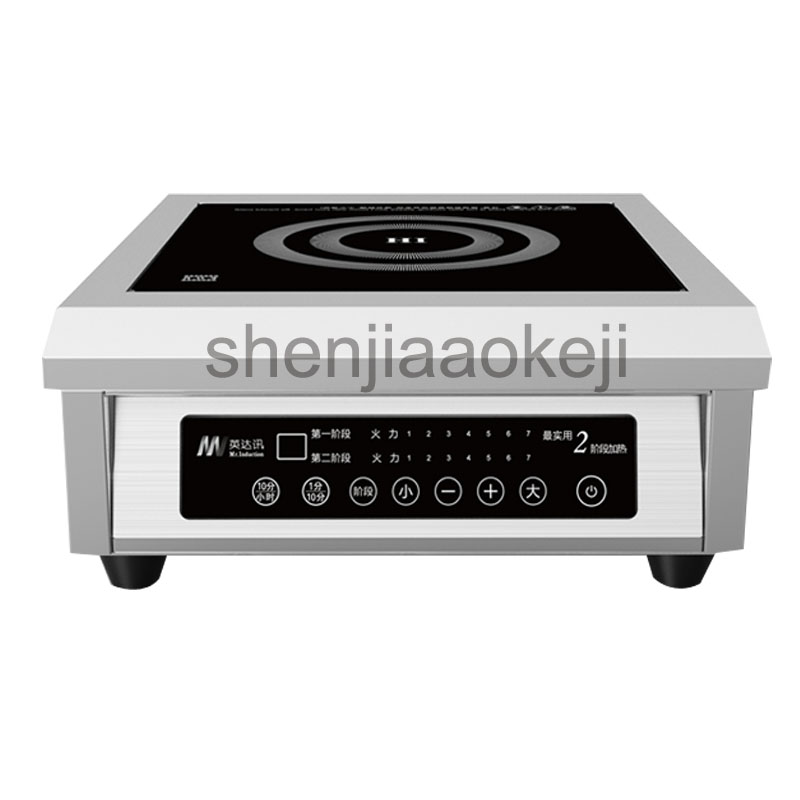 Flat Induction Cooker restaurant soup stove high-power desktop 6000w canteen electromagnetic induction cooker 220V 1PC