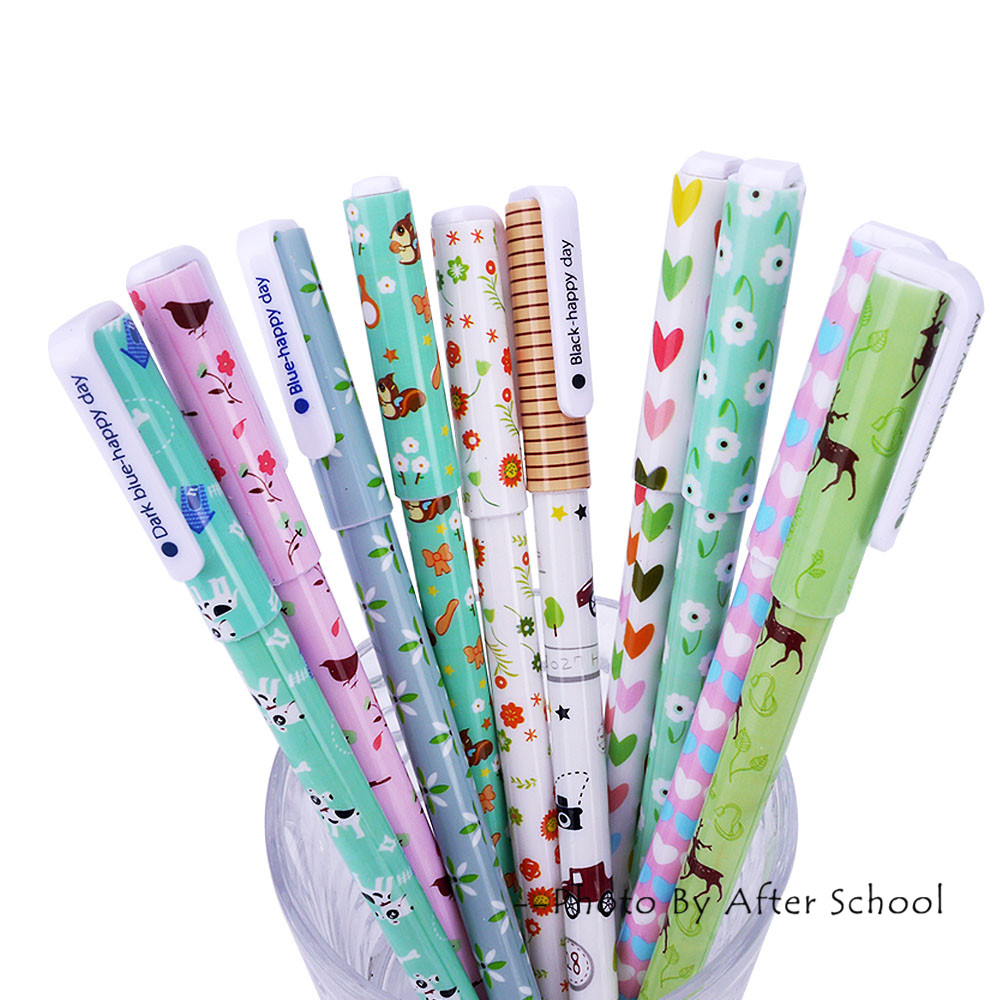 10 pieces Gel Pen Set Cute Stationery Kawaii Pen 10 Colors Colored Pens Markers For School Office Stationery Cute Gel Pens Kit
