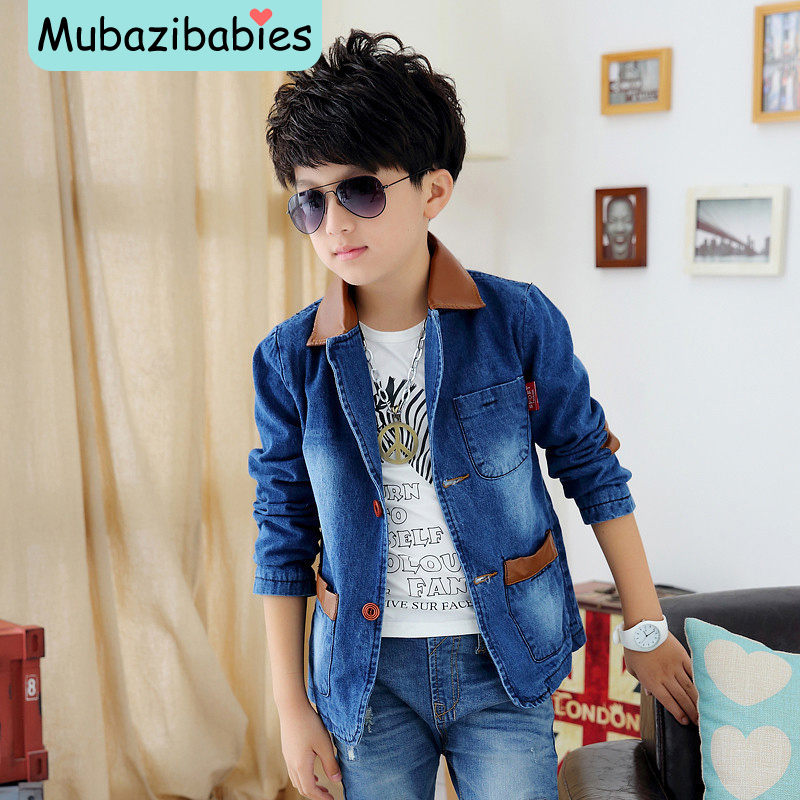 2015 Spring And Autumn New Style Boys Jackets and Coats Boys Blazers Jeans Coat Boys Cow Clothes ...
