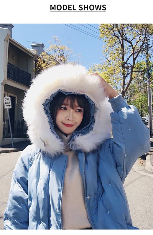 Version 2018 Coréenne Doudoune Lâche Femmes Rembourré rembourré Coton Veste La Manteau bleu Coton Style Long 90152 Beige Hiver De Nouveaux nw0pqc04rC